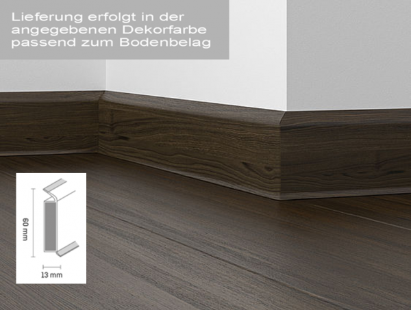 Design-Sockelleiste SL40 zu Brown Saw Cut Ash